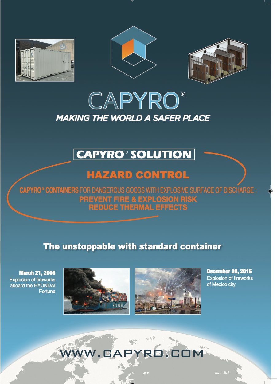 CAPYRO at the Euromaritime exhibition from 4th to 6th February Parc Chanot in Marseille.